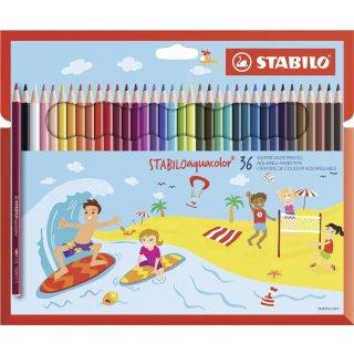 Farbstift aquacolor Kartonetui 36St