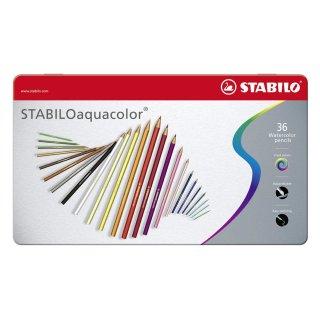 Farbstift aquacolor Metalletui 36St