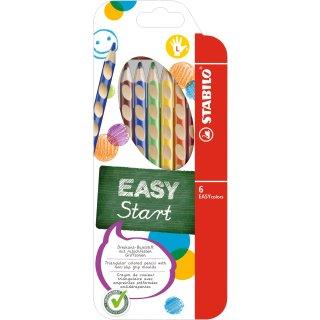 Ergonomischer Buntstift für Linkshänder - STABILO EASYcolors - mit 6 verschiedenen Farben