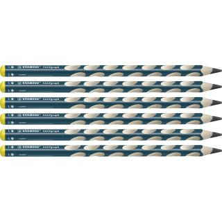 STABILO EASYgraph links 6er Faltschachtel Härtegrad HB - ergonomischer Bleistift