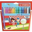Filzstift - STABILO power - 18er pack - mit 18 verschiedenen Farben