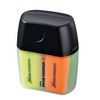 Textmarker - STABILO BOSS MINI - 4er Box - gelb, blau, grün, orange