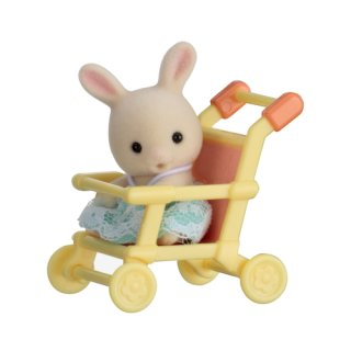 Sylvanian Families 5200 - Minibox - Hase im Kinderwagen