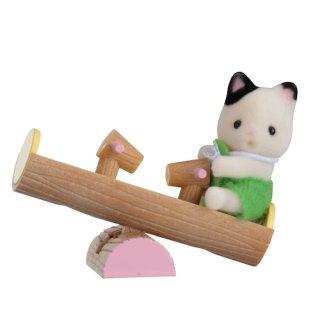 Sylvanian Families 5205 - Minibox - Katze auf Wippe