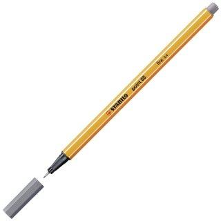 Fineliner - STABILO point 88 - Einzelstift - dunkelgrau