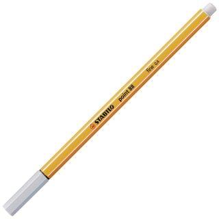 Fineliner - STABILO point 88 - Einzelstift - hellgrau