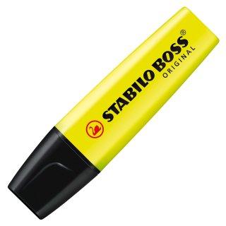 Textmarker - STABILO BOSS ORIGINAL - Einzelstift - gelb