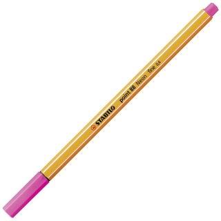 Fineliner - STABILO point 88 - Einzelstift - Neonfarbe, leuchtfarbenrosa