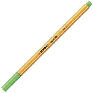 Fineliner - STABILO point 88 - Einzelstift - hellgrün
