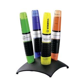 Textmarker - STABILO LUMINATOR - 4er Tischset - gelb, grün, royalblau, orange