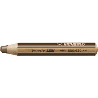 Multitalent-Stift STABILO® woody 3 in 1, braun