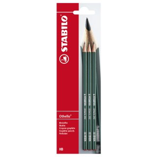 Bleistift - STABILO Othello - 3er Pack - Härtegrad HB