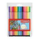 Premium-Filzstift - STABILO Pen 68 - 15er Pack - mit 15 verschiedenen Farben inklusive 5 Neonfarben
