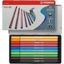Premium-Filzstift - STABILO Pen 68 - 10er Metalletui -...