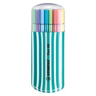 Premium-Filzstift - STABILO Pen 68 - 20er Zebrui in petrol - mit 20 verschiedenen Farben