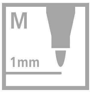 Fasermaler pen 68 Metalletui 40St