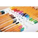 Fineliner - STABILO point 88 - 20er Zebrui - mit 20 verschiedenen Farben