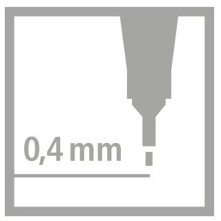 Fineliner - STABILO point 88 - 6er Pack - mit 6 verschiedenen Farben