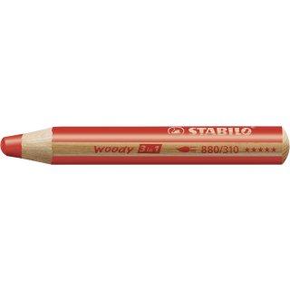 Multitalent-Stift STABILO® woody 3 in 1, rot