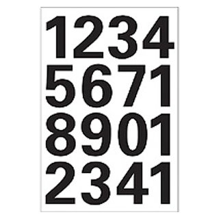 VARIO ZAHLEN 0-9, SCHWARZ 25 mm
