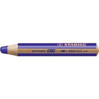 Multitalent-Stift STABILO® woody 3 in 1, ultramarinblau
