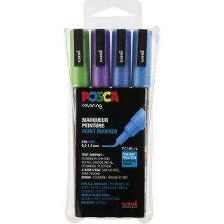 Marker UNI POSCA PC-3M 4er Set