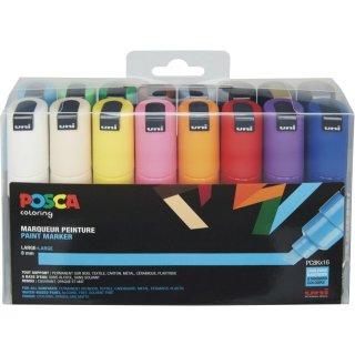 Marker UNI POSCA PC-8K 16er Set