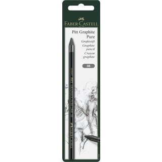 Faber-Castell 117392 Stift Pitt Graphite Pure, Härtegrad 3B