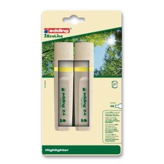 e-24/2 Blister EcoLine Textmarker gelb