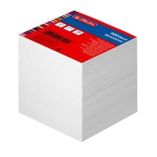 Notizklotz 9x9cm 900Blatt weiß blanko geleimt mit Deckblatt