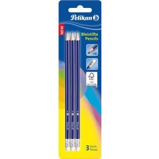 Bleistifte HBE m.Rad.,sechskant 3/B,FSC Blisterkarte
