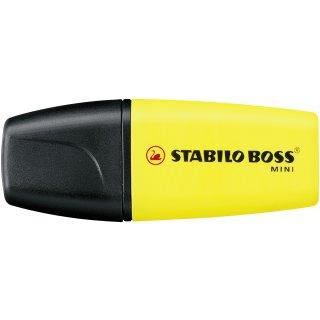 Textmarker - STABILO BOSS MINI - Einzelstift - gelb