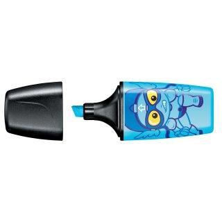 STABILO Textmarker BOSS MINI Heroes, blau 4006381455749