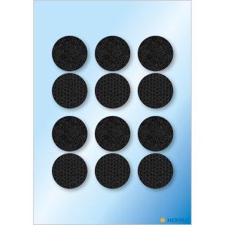 Klettpunkte schwarz 19 mm