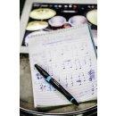 Kugelschreiber & Stylus für Tablets & Smartphones für Rechtshänder - STABILO SMARTball 2.0 in schwarz/cyan - Einzelstift - Schreibfarbe blau