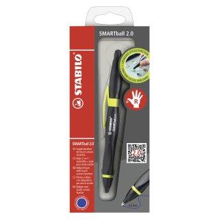 Kugelschreiber & Stylus für Tablets & Smartphones für Rechtshänder - STABILO SMARTball 2.0 in schwarz/kiwi - Einzelstift - Schreibfarbe blau