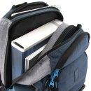 Ars Una Studio Schulrucksack blau und grau AU-3 als Schultasche oder Rucksack verwendbar