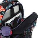 Ars Una Studio Schulrucksack Troipcal Night Blumen AU-2 als Schultasche oder Rucksack geeignet