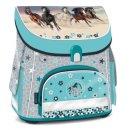 Ars Una Schulranzen Pferde Blau mit Pferden Schultasche