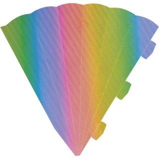 Heyda 204870089 Schultüten-Zuschnitt 3D (Höhe 69 cm, Wellkarton 3D, 300 g/m²) Regenbogen