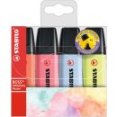 Textmarker - STABILO BOSS ORIGINAL Pastel - 4er Pack -...