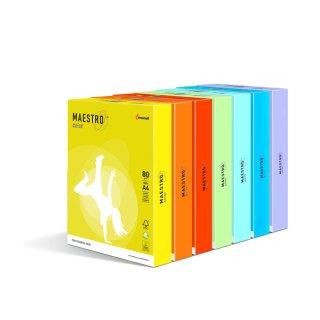 Kopierpapier MAESTRO® color, hellfarben, A4, 80 g/qm, mittelgrün, PG = 500 Blatt